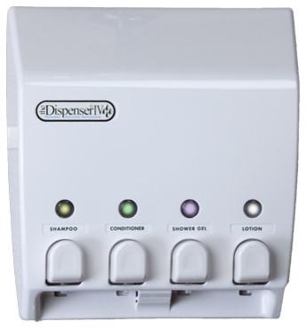 Clic 4 Chamber Shower Dispenser