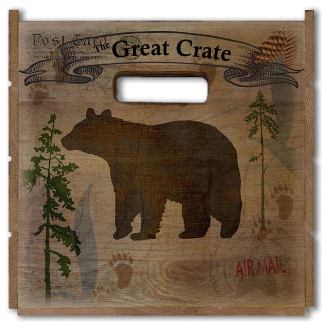 "Bear Lodge Great Crate 17.5""x12.5""x11.5""."
