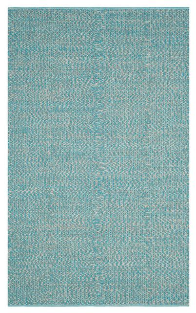 Safavieh Montauk Flatweave Rug, Turquoise/multi, 5&x27;x8&x27;.