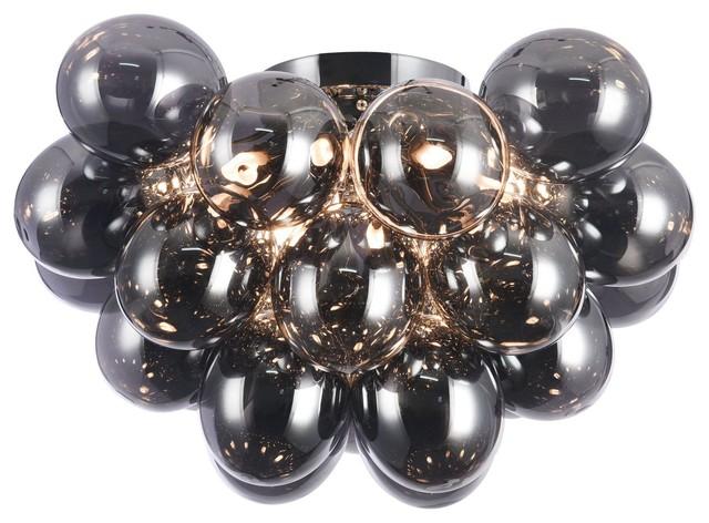 Balbo Bubble Flush Ceiling Light, Black