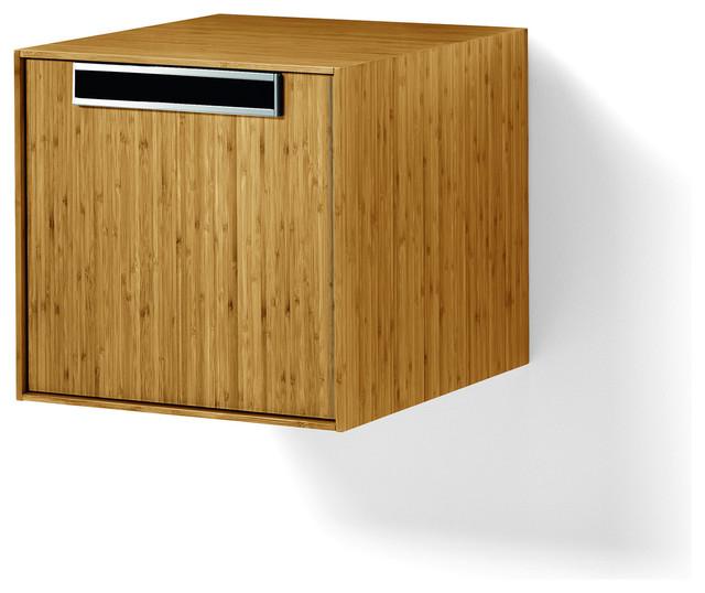 Canavera Storage Unit Organizer Cabinet Box, Bamboo Solid Wood - Contemporary - Storage Cabinets ...