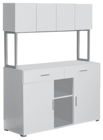 "48"" Storage Credenza with Hutch - Contemporary - Desks And ..."