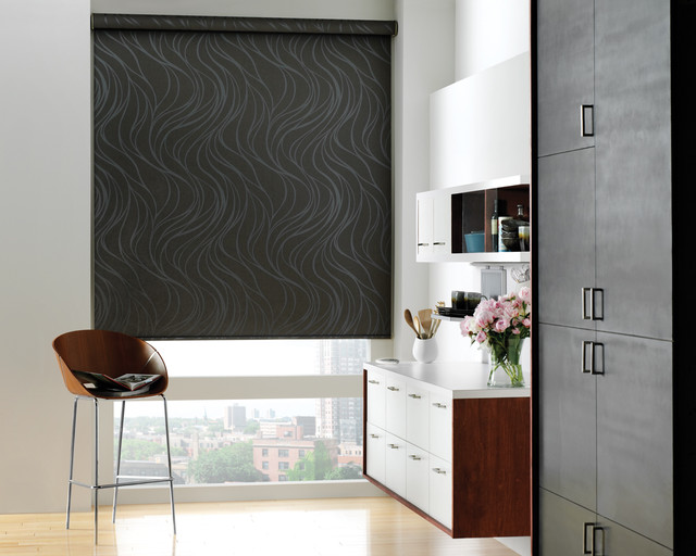 Hunter Douglas Designer Roller Shades with Powerise - Modern ...