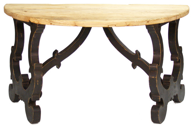 Estancia Rustic Reclaimed Wood Old World Console Traditional Console Tables