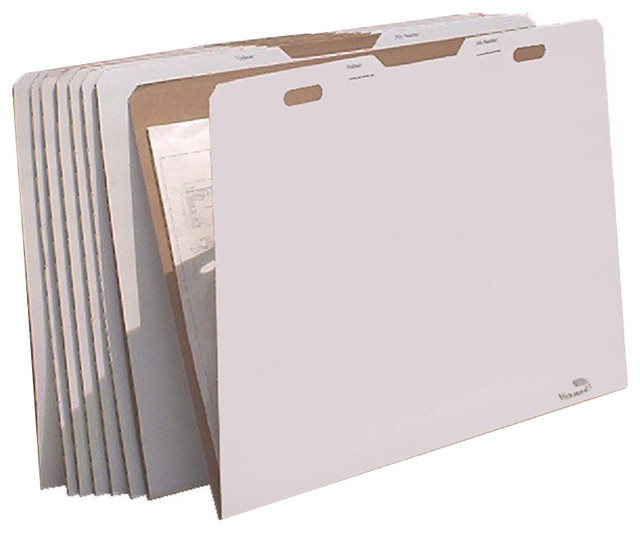 """AOS VFolder, 8-Pack Rigid Storage Folder for 30""""x42"""" Documents - Contemporary - Filing Cabinets ..."""