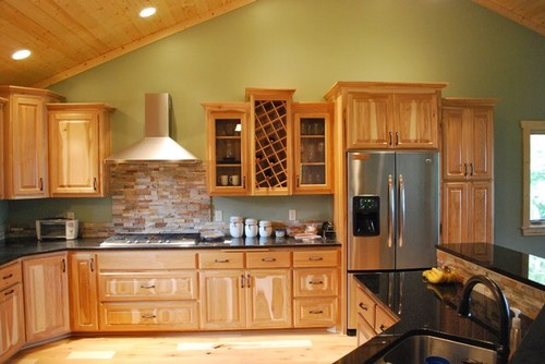 Survey White Cabinets Vs Hickory Cabinets