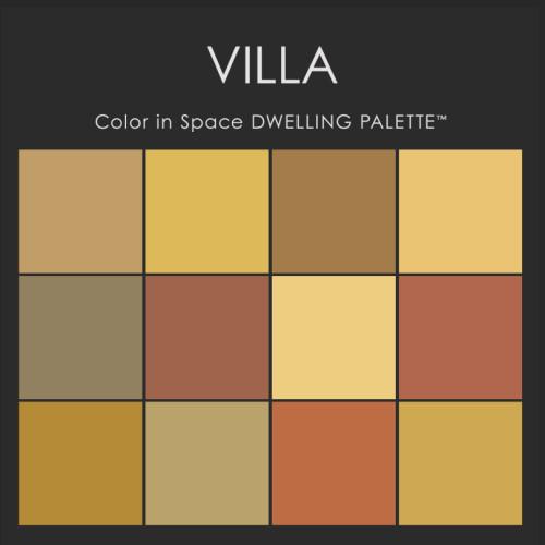 Color in Space Villa Palette™--rich & earthy