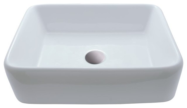 "Bathroom Sinks For Rvs miseno mno-1815-rv 18-3/4"" vitreous china vessel bathroom sink"