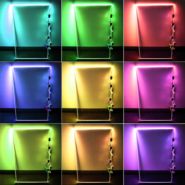 RGB LED Glass Edge Lighting Kit, 4pcs - Contemporary - Undercabinet Lighting - by TORCHSTAR