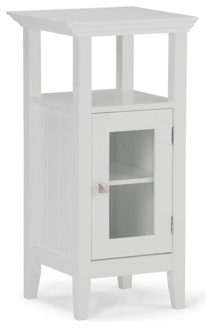 Acadian White Bathroom Storage Floor Cabinet