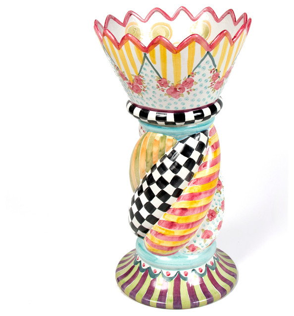 Chimney Flower Pot Spiral Mackenzie Childs Eclectic Outdoor Pots And Planters Other By