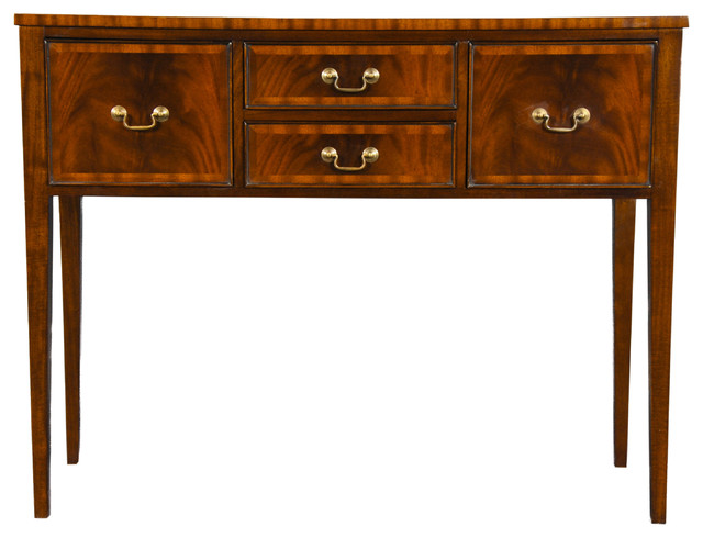 Niagara Furniture, Small Tapered Leg Mahogany Sideboard  traditional-buffets-and-sideboards - Niagara Furniture, Small Tapered Leg Mahogany Sideboard
