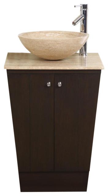 22 Inch Small Espresso Vessel Sink, Vessel Sink Bathroom Vanity
