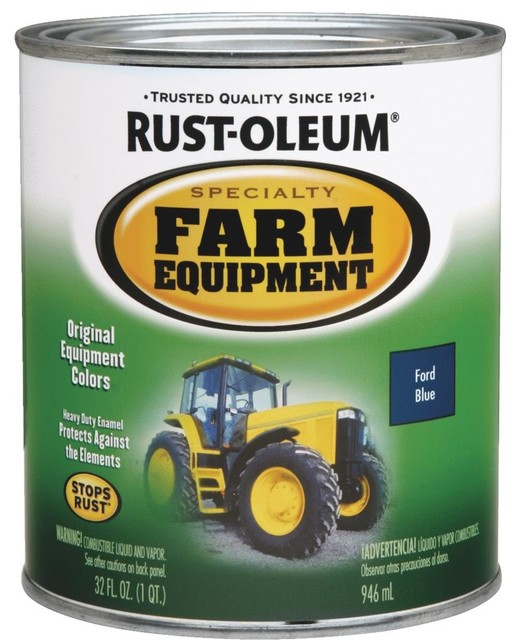 Rust Oleum Ford Blue Implement Enamel 7424 502 1 Quart