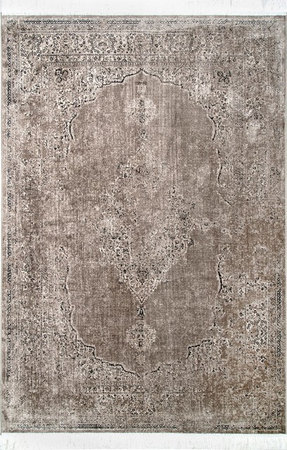 Nuloom Traditional Withering Medallion Fringe Area Rug