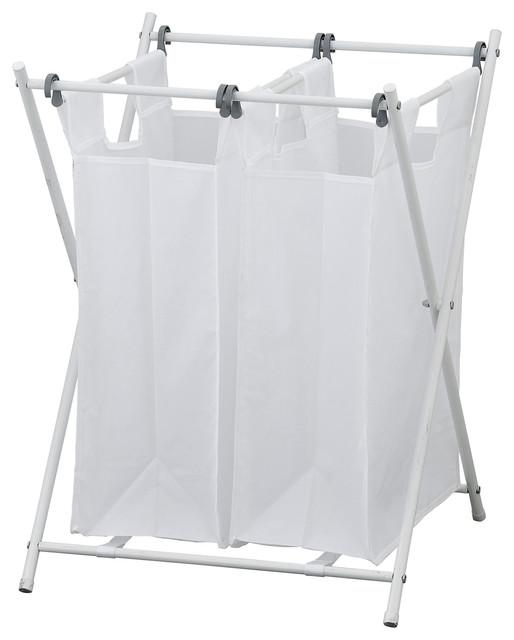 Furinno Wayar Foldable Laundry Sorter, Double.