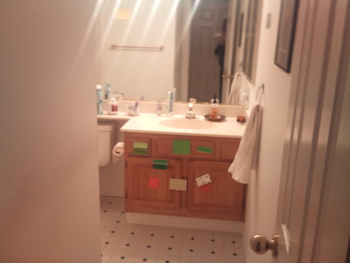Windowless small bathroom remodel for Windowless kitchen sink