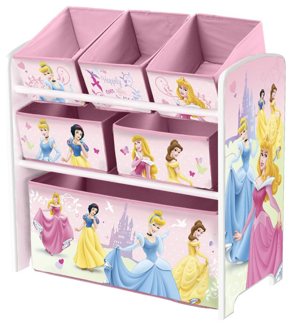 Wonderful Pink Little Children Girls Princess Toy Storage Organizer Box Toddler  Furniture Contemporary Toy Organizers