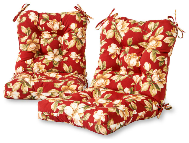 Outdoor Seat And Back Chair Cushions, Set Of 2, Carnival