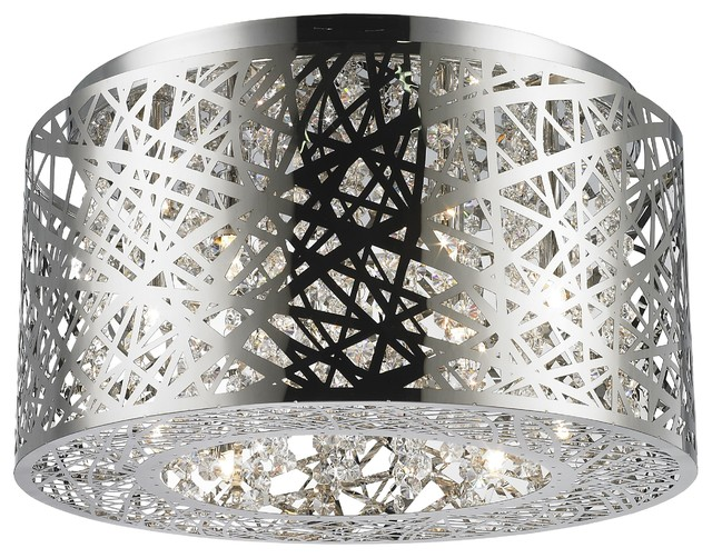 Led Light 16 Round Crystal Ceiling Light.