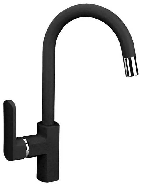 Latoscana Pamix50e Single Handle Pull Down Bar Faucet Matt Black Contemporary Kitchen