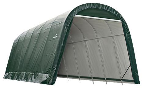 13&x27;x20&x27;x10&x27; Round Style Shelter, Green.