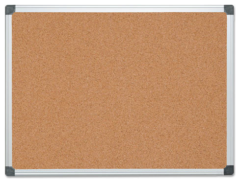"Mastervision Value Cork Bulletin Board With Aluminum Frame, 36""X48"", Natural"
