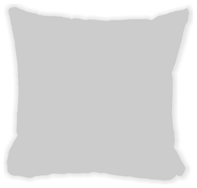 Light Gray Microfiber Throw Pillow - Contemporary - Decorative Pillows - by Rikki Knight LLC