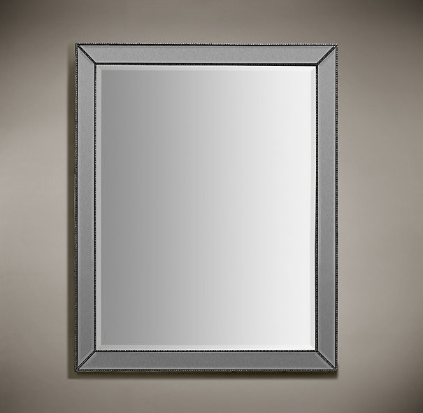 30 x 40 bathroom mirror venetian beaded mirror silver 30x40 21806