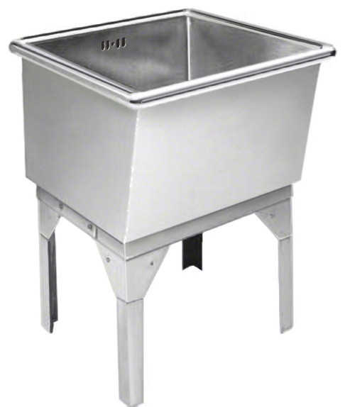 Just Free Standing Laundry Tub 27x27x16, 14 Gauge Stainless Steel
