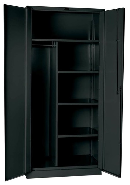 Heavy-Duty Combination Cabinet, Charcoal contemporary-storage-cabinets