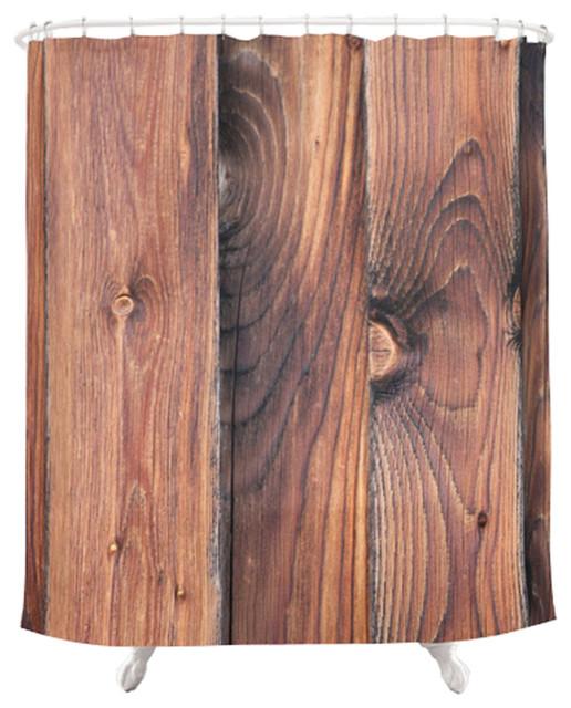 Barn Wood Fabric Shower Curtain