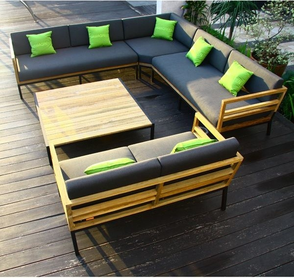 Zudu Teak Outdoor Sectional Seating Sofas Chicago By Home Infatuation