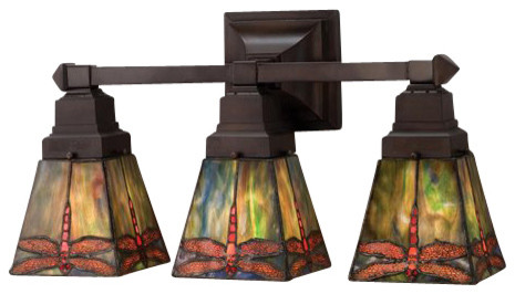 Meyda Tiffany 48036 Stained Glass / Tiffany 3 Light 20