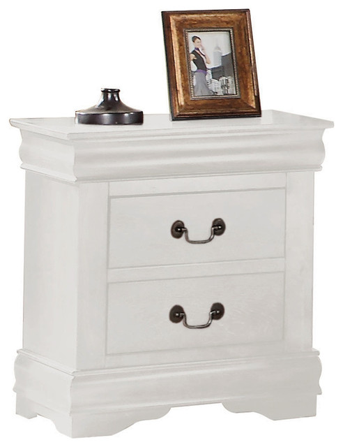 Louis Philippe Nightstand, White.