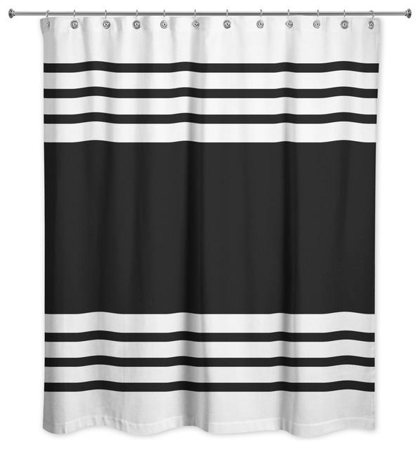 e8781f04f0f Farmhouse Stripe Shower Curtain - Contemporary - Shower Curtains - by  Designs Direct