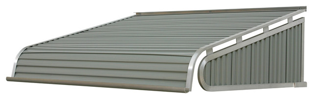 "1500 Series Aluminum Door Canopy 72""x36"" Projection, Graystone."