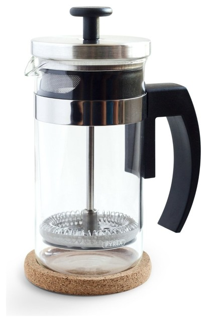 Stainless steel european glass small french press coffee for Small apartment coffee maker