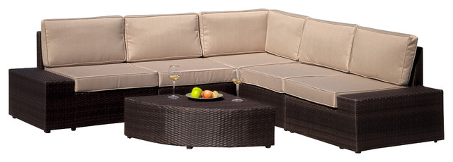 Reddington Outdoor Wicker Sectional Seating Set