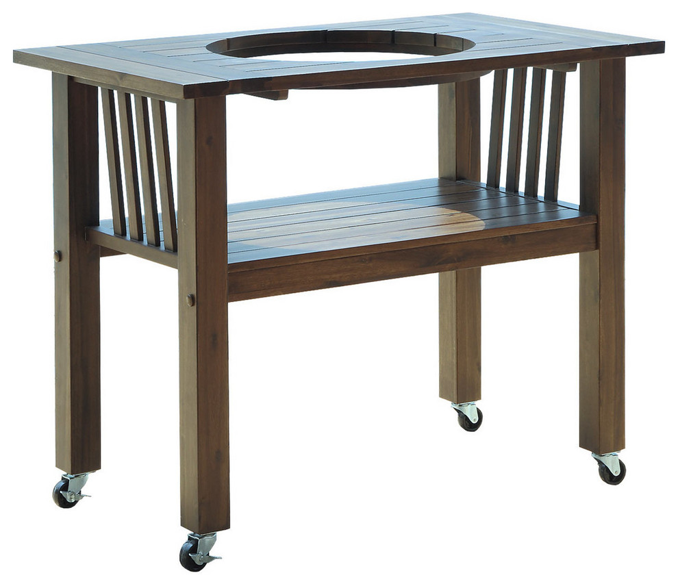 """Table for 18"""" Duluth Forge Ceramic Charcoal Kamado Grill ..."""
