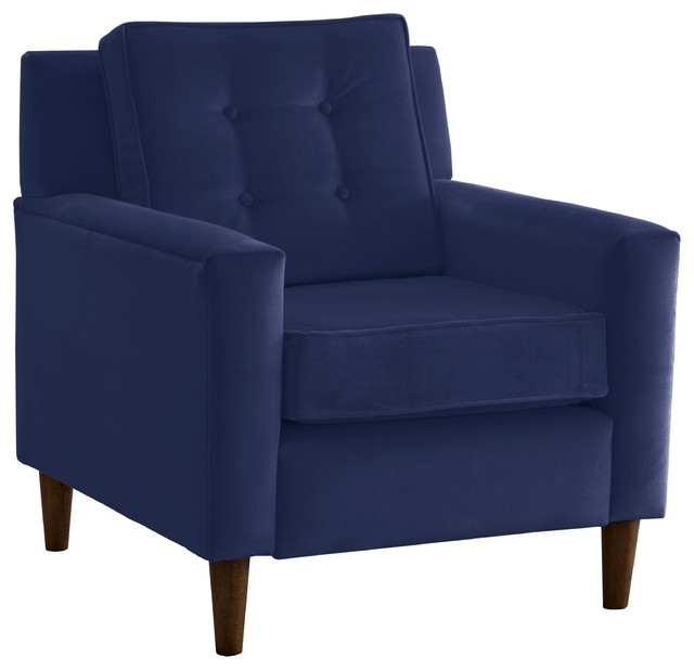 Velvet Armchair Navy Midcentury Armchairs And Accent
