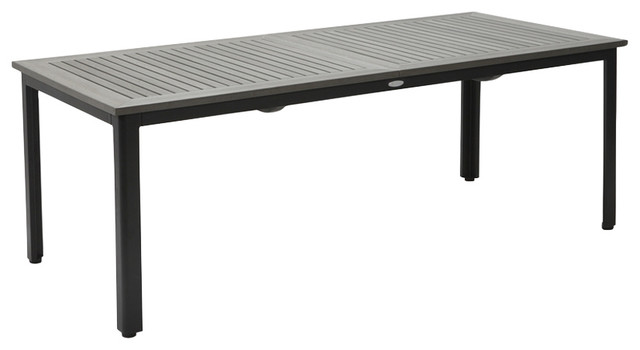 Nydala Extendable Outdoor Dining Table Grey And Black