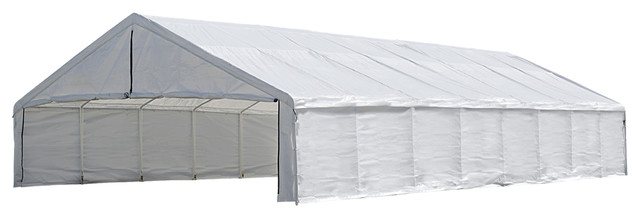 Canopy Enclosure Kit 30x50&x27;, White, Canopy Cover And Frame Sold Separately.