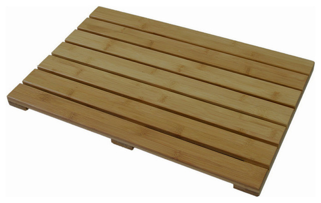 Bamboo Natural Spa Bath Mat Natural Transitional Bath