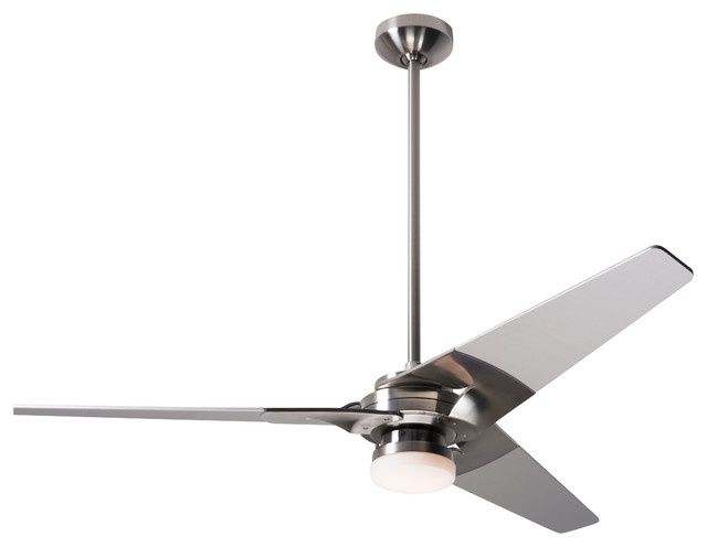Modern Fan Torsion Led Light Bright Nickel 52 Ceiling Fan With Remote Control Contemporary Ceiling Fans By Alcove Lighting