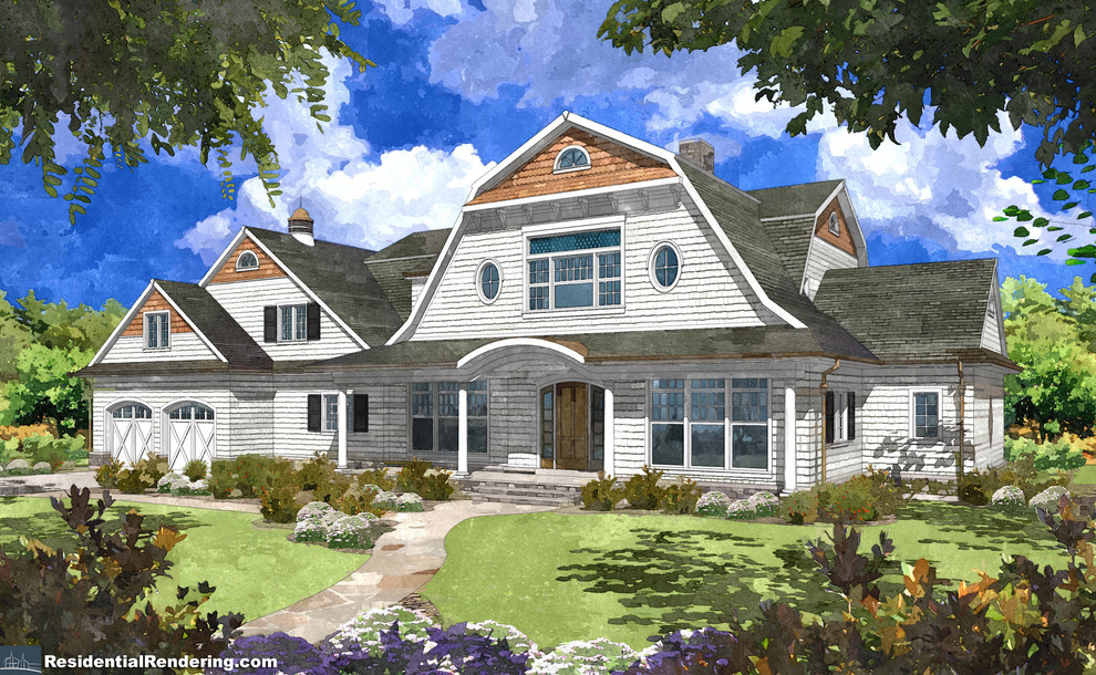 Water color renderings of New Homes
