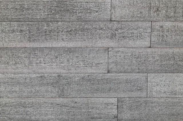 "5""x23.75"" 3d Barn Wood Smart Paneling Reclaimed Wood Wall Planks, Set Of 12."