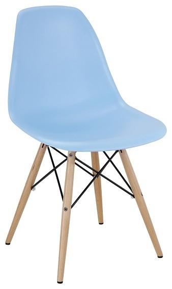 Light Blue Midcentury Modern Plastic Dining Chair, 1 Chair  Midcentury Dining Chairs