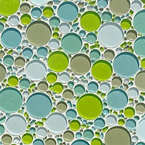 Glass Tile Bubble Blend Mosaic Backsplash Contemporary