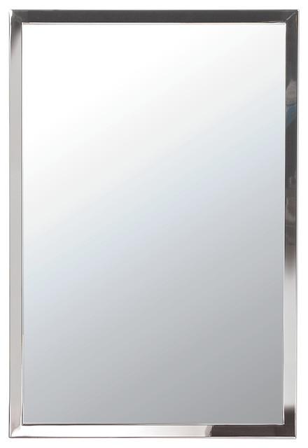 "Urban Steel 1"" Decorative Mirrors, Brushed, 24""x30""."